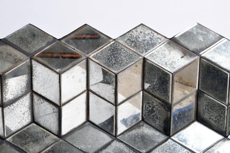 Belgian Glass Cube Brutalist Art Panel by Olivier de Shernee For Sale 3