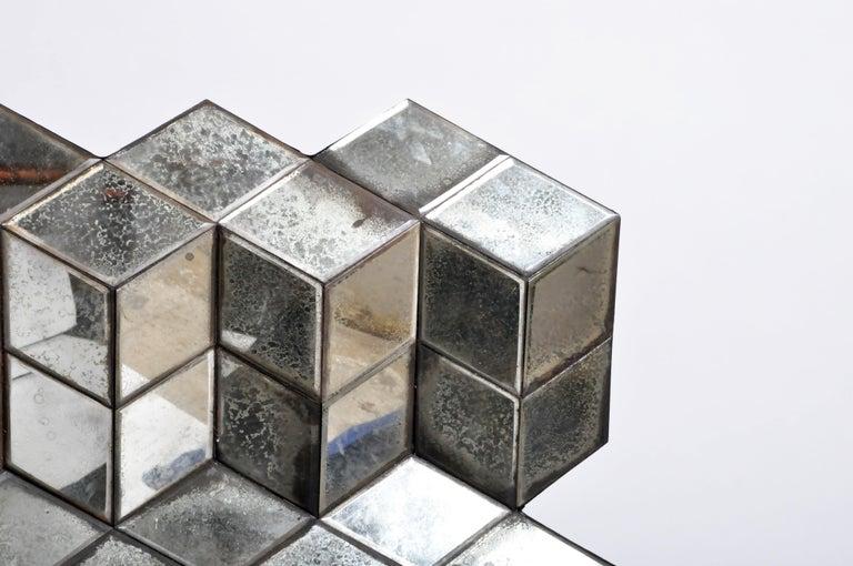 Belgian Glass Cube Brutalist Art Panel by Olivier de Shernee For Sale 4