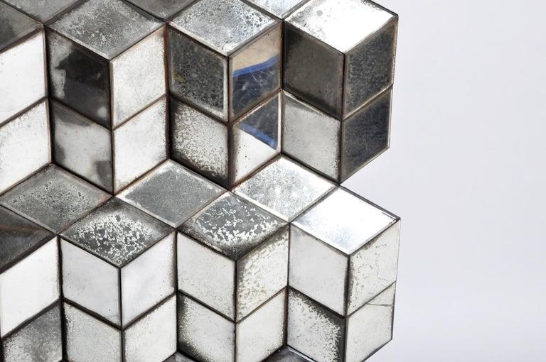 Belgian Glass Cube Brutalist Art Panel by Olivier de Shernee For Sale 5