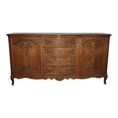 Belgian Louis XV Oak Sideboard
