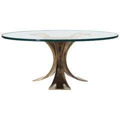 Belgian Midcentury Brutalist Coffee Table in Solid Bronze, 1970s