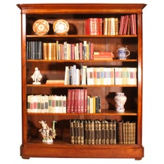 Belgian Open Bookcase in Mahogany, 19th Century