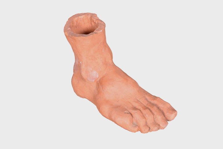 Belgian Oversized Terracotta Foot, circa 1970 In Good Condition For Sale In Sint-Kruis, BE