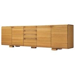 Belgian Sideboard with Folded Handles in Oak by Van Den Berghe