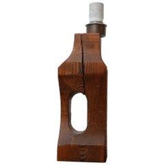 Belgium Brutalist Wooden Table Lamp