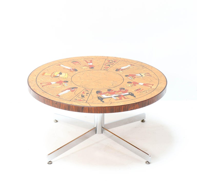 Belgium Mid-Century Modern Coffee Table with Tiles by Denisco, 1970s In Good Condition For Sale In Amsterdam, NL
