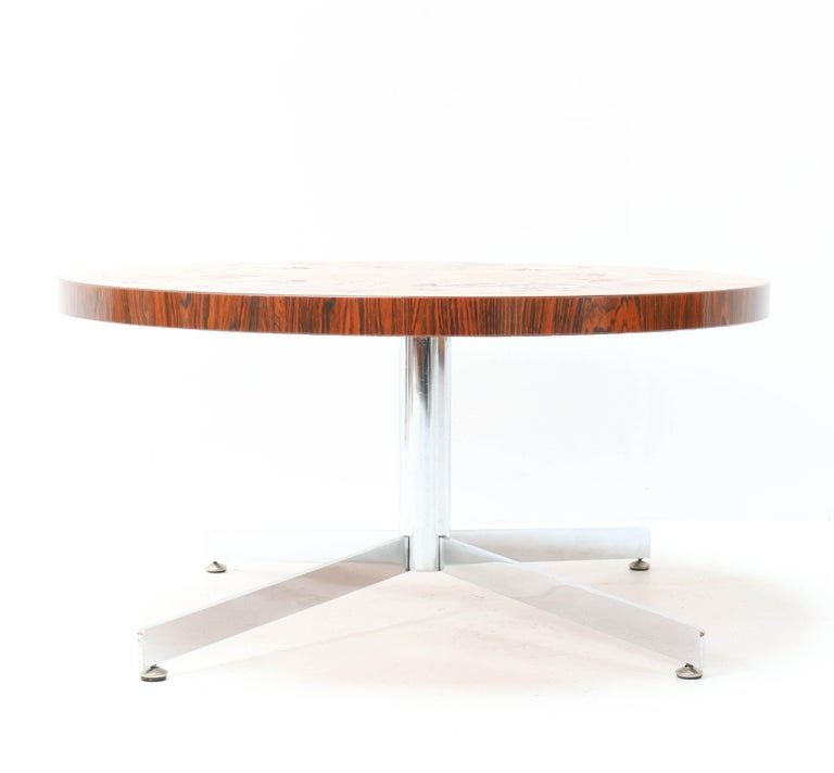 Mid-20th Century Belgium Mid-Century Modern Coffee Table with Tiles by Denisco, 1970s For Sale