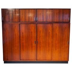 Belgium Rare Designed High Wardrobe, Cabinet by Hendrickx for Belform, 1960s