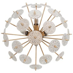 Belgium Snowflake Flush Mount Light Fixture