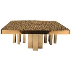 Belgium Solid Cast Bronze Coffee Table, 1985