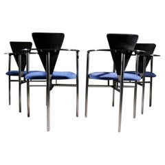 Belgo Chrom Chairs Memphis Style, Set of 4