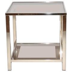 Belgo Chrome 23-Karat Gold-Plated 2-Tier Side Table