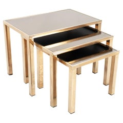 Belgo Chrome Gold Plated Nesting Tables