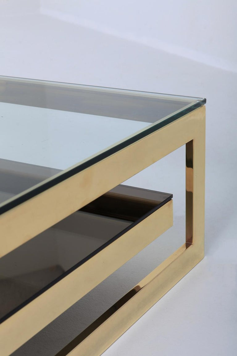 Belgo Chrome Golden G Coffee Table Extra Large For Sale 3