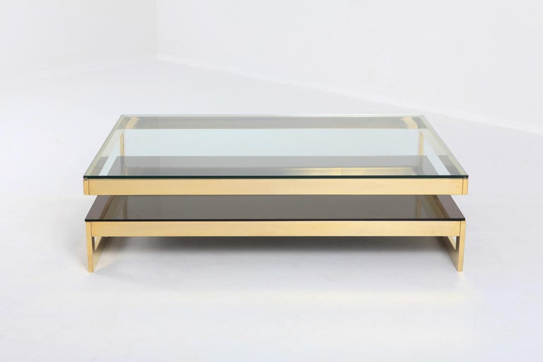 Belgian Belgo Chrome Golden G Coffee Table Extra Large For Sale