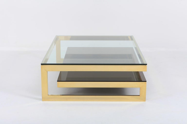 Belgo Chrome Golden G Coffee Table Extra Large In Good Condition For Sale In Antwerp, BE