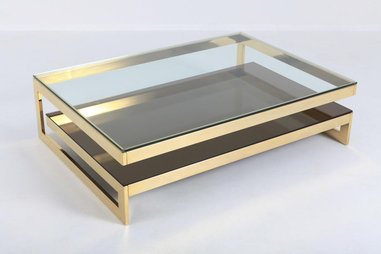Belgo Chrome Golden G Coffee Table Extra Large For Sale 1
