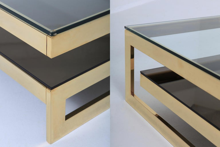 Belgo Chrome Golden G Coffee Table Extra Large For Sale 2