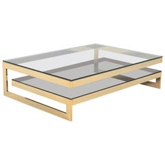 Belgo Chrome Golden G Coffee Table Extra Large