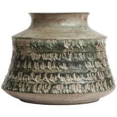 Beliardo Grey Green Glaze Ceramic Vessel