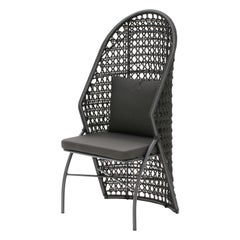 Belize Outdoor Chair in Aluminum and Naval Rope Handmade