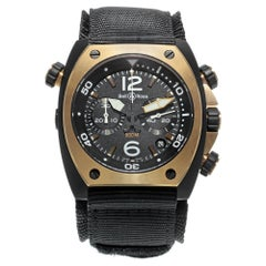 Bell & Ross Marine Black Matte PVD Steel Automatic Men's Watch BR02-CHR-BICOLOR