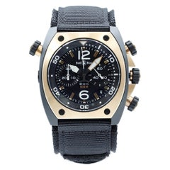 Bell and Ross Marine Black Matte PVD Steel Automatic Mens Watch BR02-CHR-BICOLOR