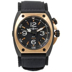 Bell and Ross Marine BR02‑PINKGOLD‑CA Steel PVD 18K Rose Gold Automatic Watch