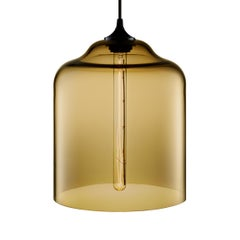 Bell Jar Smoke Handblown Modern Glass Pendant Light, Made in the USA