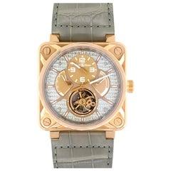 Bell & Ross 18 Karat Rose Gold BR01 Aviation Tourbillon Watch