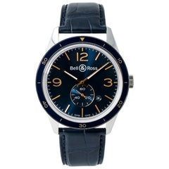 Bell & Ross Aeronavale BR123-95, Blue Dial, Certified and Warranty