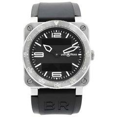 Bell & Ross Aviation Instruments Black Dial Steel Quartz Men's Watch BR0392-AVIA