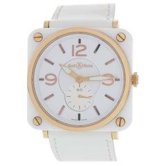 Bell & Ross Aviaton BRS-98-WCR White Ceramic and Gold