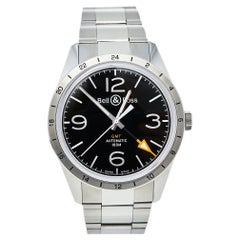 Bell & Ross Black Stainless Steel Vintage BR123 GMT Automatic Men's Wristwatch 4