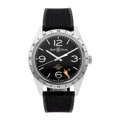 Bell & Ross BR123-GMT Stainless Steel Watch