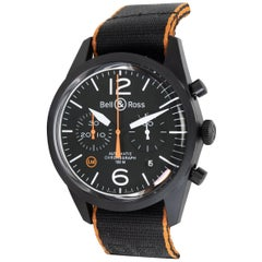 Bell & Ross Carbon Orange BRV126-O-CA Men's Watch in PVD