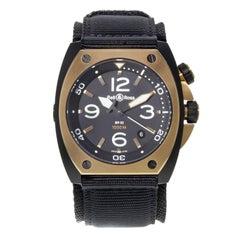 Bell & Ross Marine BR02‑PINKGOLD‑CA Steel PVD 18 Karat Gold Automatic Watch