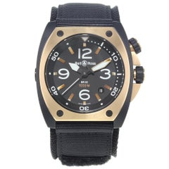 Bell & Ross Marine BR02‑PINKGOLD‑CA Steel PVD 18 Karat Rose Gold Automatic Watch