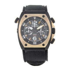 Bell & Ross Marine Matte PVD Black Steel Automatic Men's Watch BR02-CHR-BICOLOR
