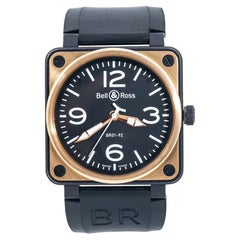 Bell & Ross Military Spec BR01-92-S 18k Rose Gold Automatic Watch