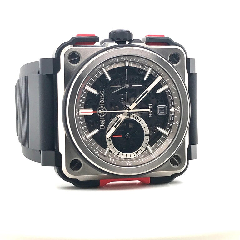 Bell & Ross Titanium BR-X1 Ltd Ed Skeleton Chronograph Mechanical Wristwatch For Sale 3
