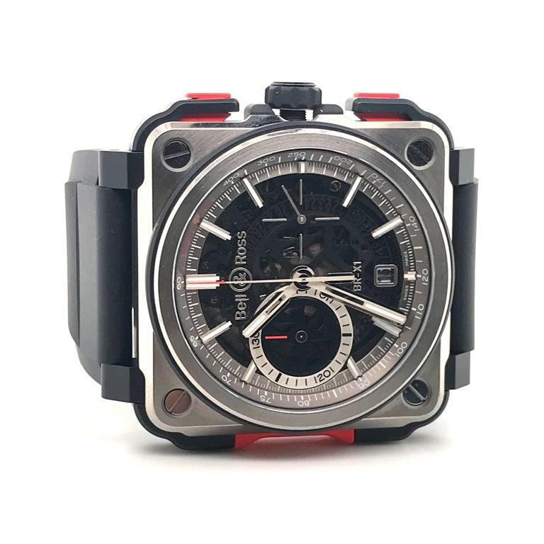 Bell & Ross Titanium BR-X1 Ltd Ed Skeleton Chronograph Mechanical Wristwatch For Sale 5