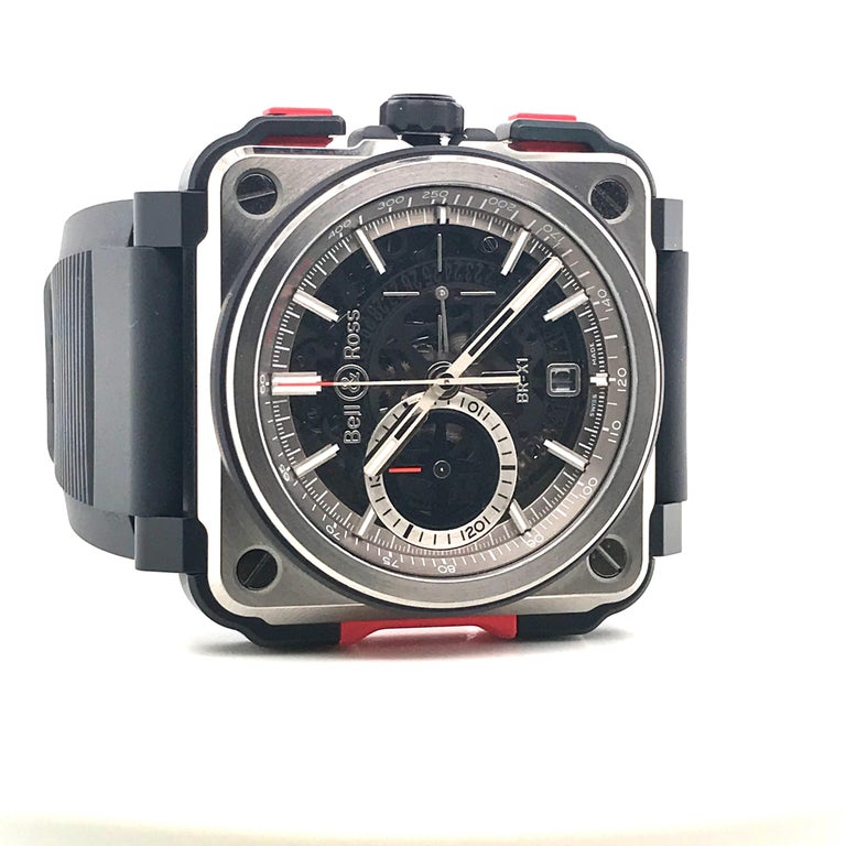 Bell & Ross Titanium BR-X1 Ltd Ed Skeleton Chronograph Mechanical Wristwatch For Sale 4
