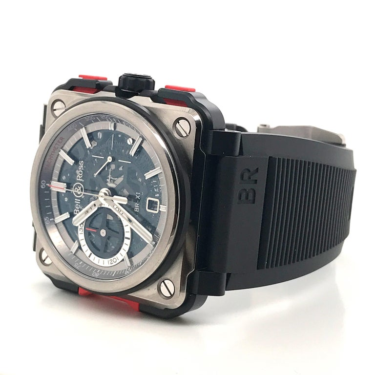 Men's Bell & Ross Titanium BR-X1 Ltd Ed Skeleton Chronograph Mechanical Wristwatch For Sale