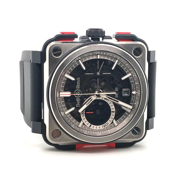 Bell & Ross Titanium BR-X1 Ltd Ed Skeleton Chronograph Mechanical Wristwatch For Sale 1