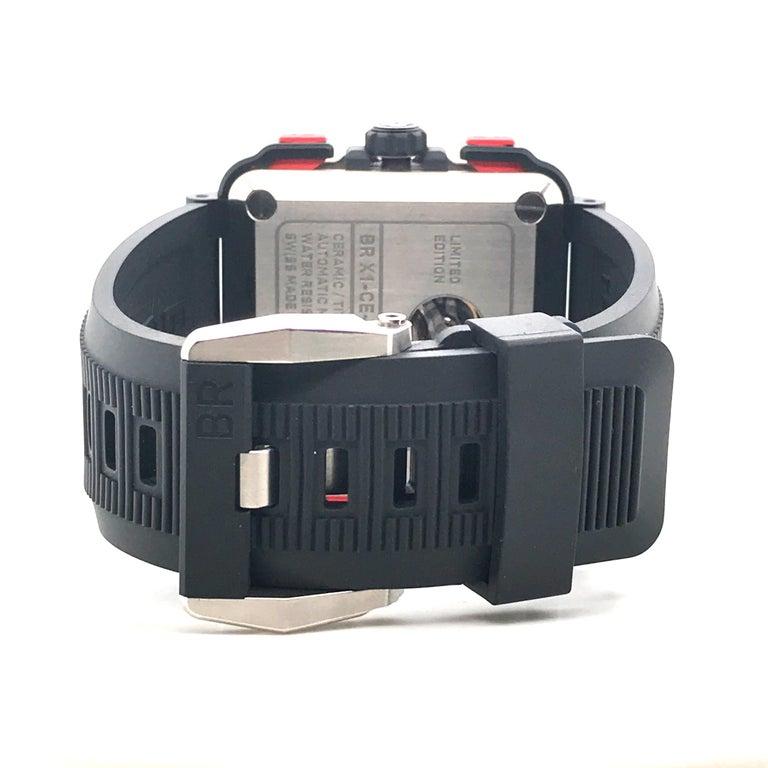 Bell & Ross Titanium BR-X1 Ltd Ed Skeleton Chronograph Mechanical Wristwatch For Sale 2