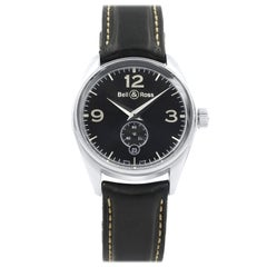 Bell & Ross Vintage BR123 Stainless Steel Black Dial Automatic Men's Watch