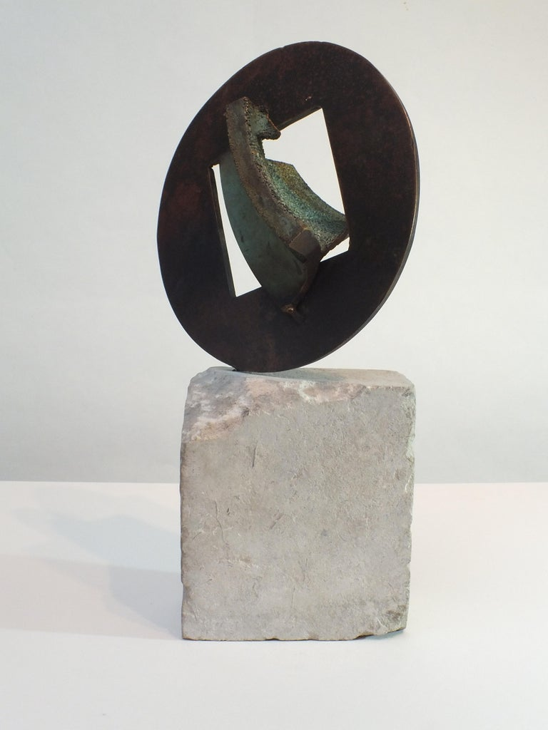 A beautiful bronze reflecting the way Rawlin's likes to work with interchangeable artistic views of subjects that are familiar to us. He puts a different slant on a formed item & a natural item. This is a really tactile piece of bronze