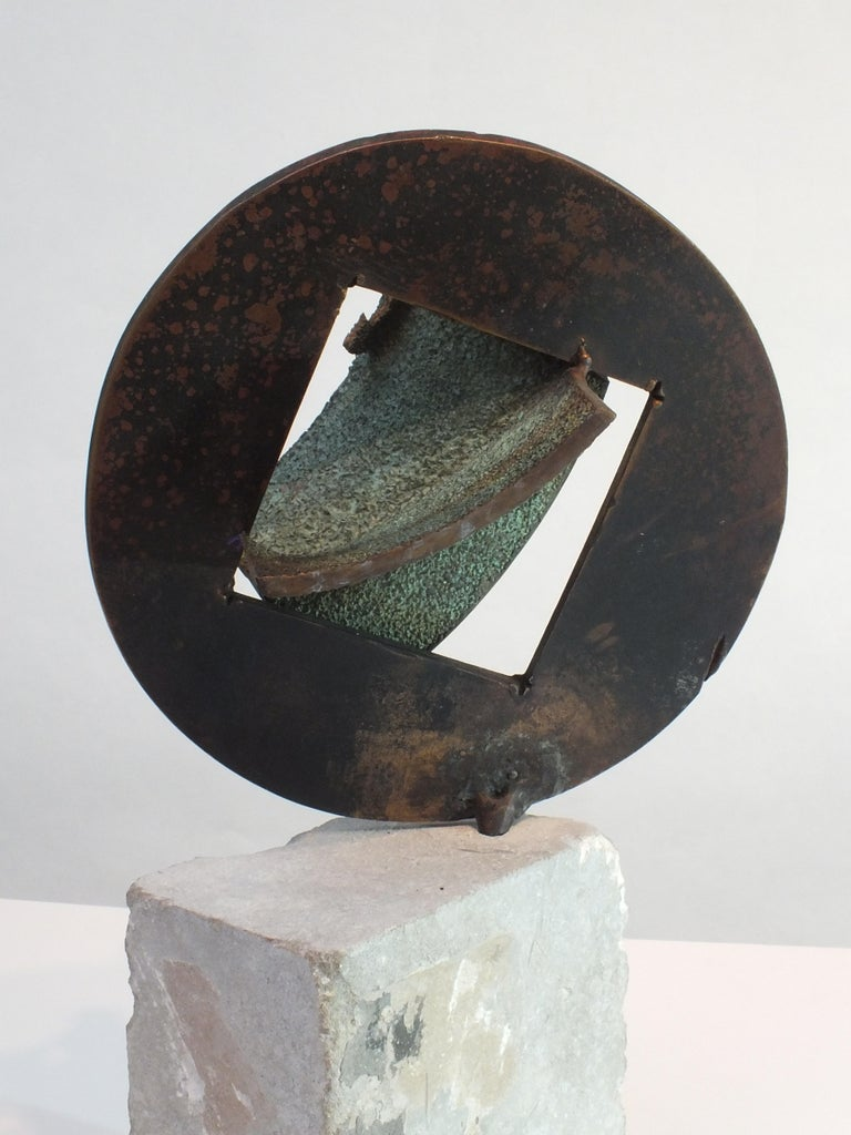 English Bell Stone, Cast Bronze Sculpture For Sale