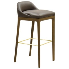 Bellagio Contemporary Upholsterd Bar Stool in Ashwood